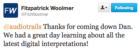 Workshop feedback from FitzwoolmerPatrick via Twitter