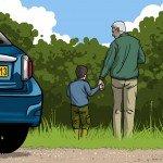 Ben and Grandad at Pont Llogel