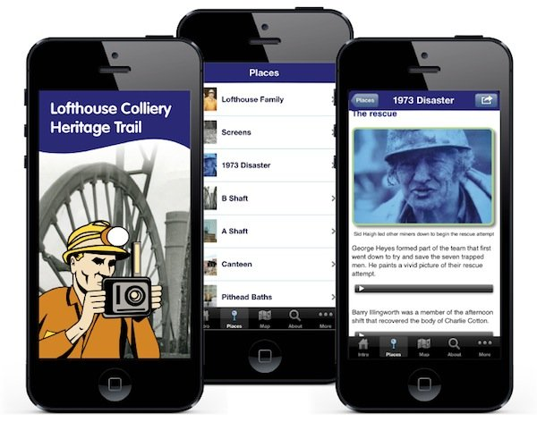 Lofthouse Colliery app screenshots