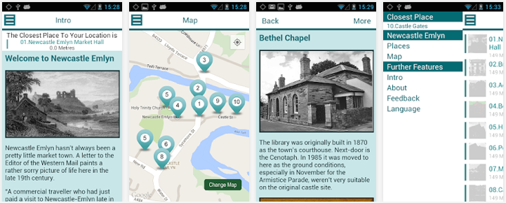 Newcastle Emlyn app screenshots