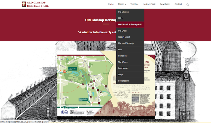 Explore oldglossoptrail.co.uk or your computer or mobile device