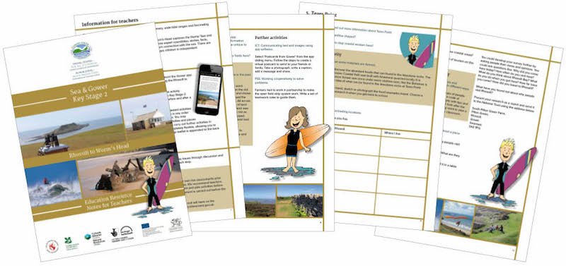 Sea & Gower education pack for Key Stage 2