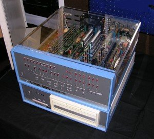 Altair 8800 Computer with 8 inch floppy disk system. Circa 1975.