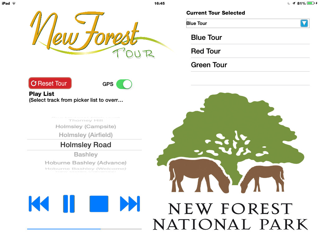 New Forest Tour app screenshot