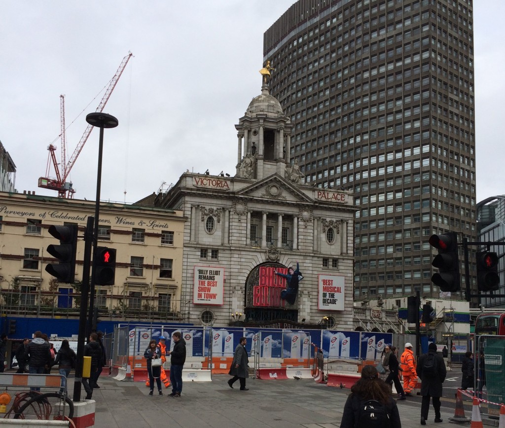 The Duke of York pub, Victoria Palace and site of Little Ben