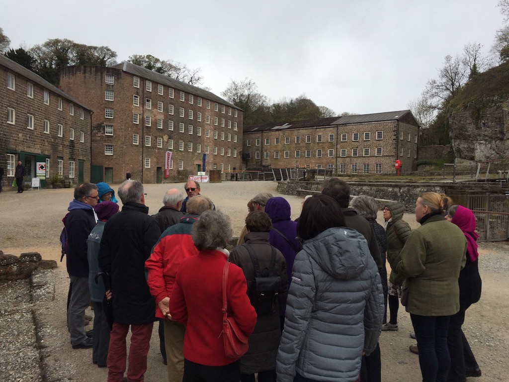The guided tour revealed many hidden aspects of Cromford Mills