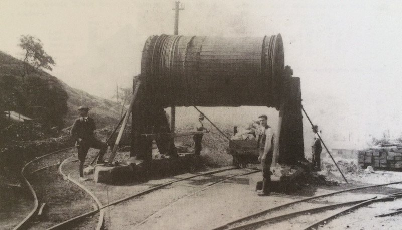 The Caldon Railway drum in operation during 1904 taken from 'The Knotty' by Basil Jeuda