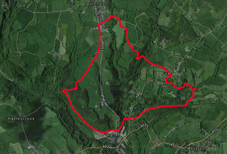 The 5 mile walk route