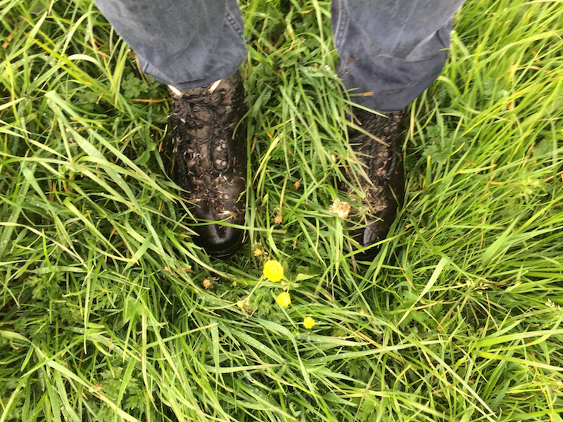 Wet boots and trousers