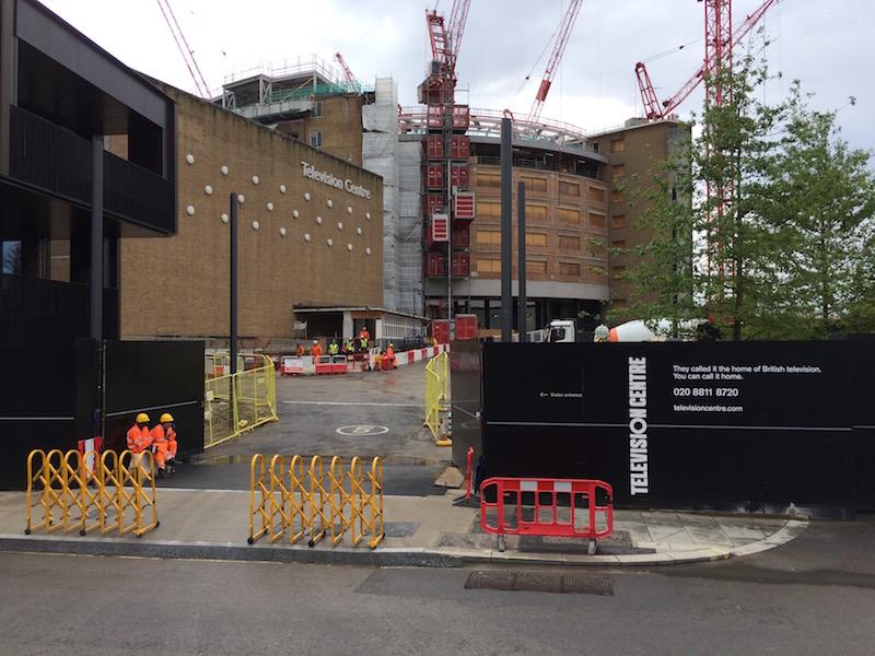 BBC Television Centre undergoing redevelopment